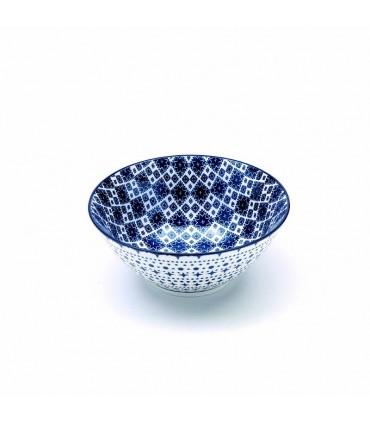 Set 6 piatti piani in porcellana Tue  a fiori blu