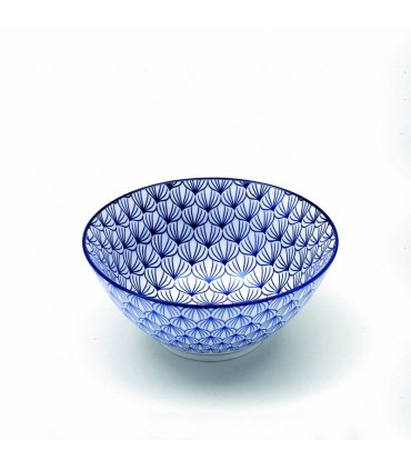 Set  6 Rhapsody porcelain medium bowl blue amphorae