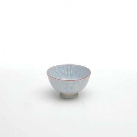 Set 2 Rhapsody porcelain oval baker blue rhombus