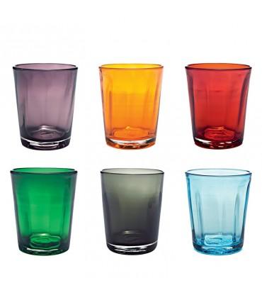 Flute Perle vetro Trasparente set 2 pezzi