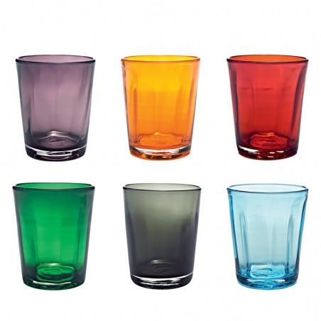 Flute Perle glass Transparent set of 2 pieces