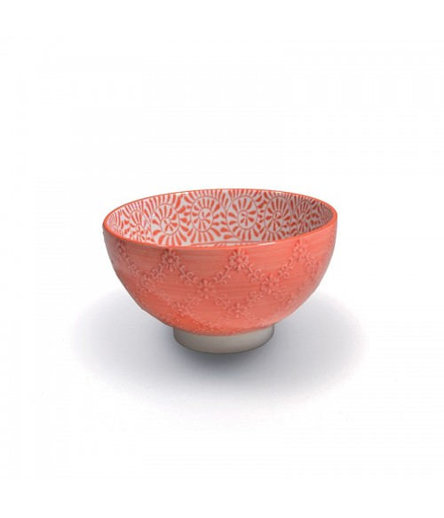 Tue porcelain medium bowl TEX - orange set 6 pieces