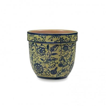 set 6 mugs TUE grey flowers