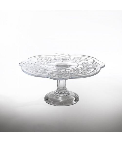 Alzatina vetro pressato Vintage trasparente