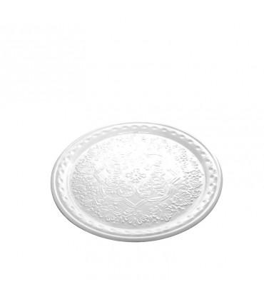 Set di 6 bicchieri Twiddle in vetro trasparente decoro bianco