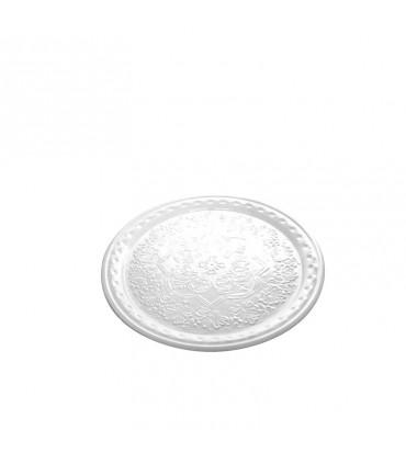 Set di 6 bicchieri Twiddle in vetro rosso decoro bianco