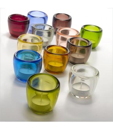 Tumbler bicchiere in vetro Provenzale cono colori assortiti set 6 pz