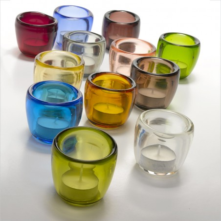 Tumbler cone glass Provenzale assorted colours set of 6 pieces