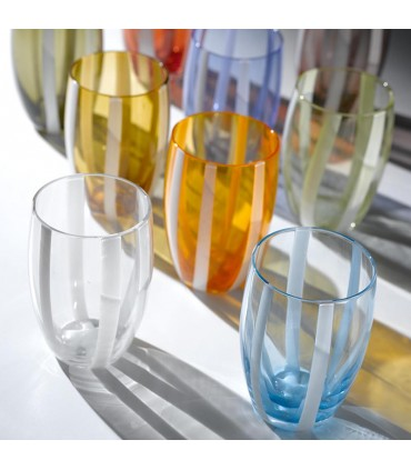 Tumbler bicchiere Losanghe Rosso set 6 pezzi