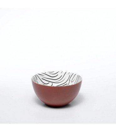 Set 2 Bowl Gessato Arancio