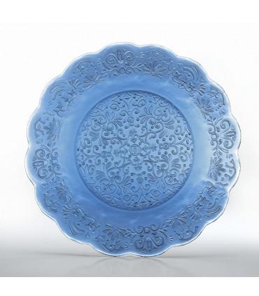 Set di 6 bicchieri in vetro turchese- linea provenzale