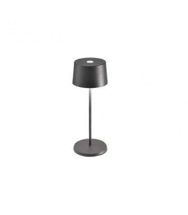 Lampada da Tavolo Olivia mini grigio scuro