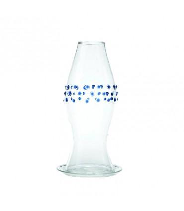 Set di 6 bicchieri da acqua in vetro trasparente-linea provenzale