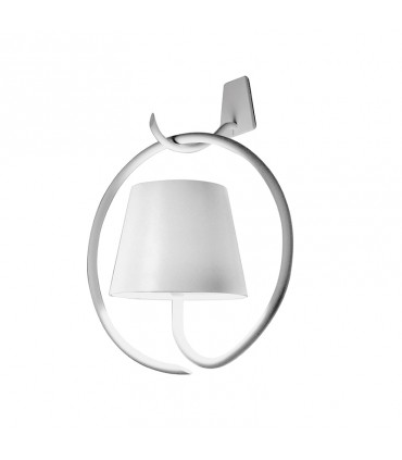 Poldina Wall with bracket lamp - white