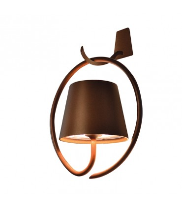 Poldina Wall with bracket lamp - rust