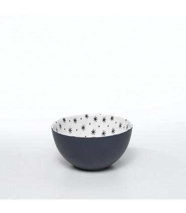 Set di 6 bicchieri da acqua in vetro grigio-linea provenzale
