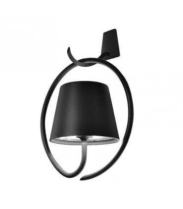 Poldina Wall with bracket lamp - dark grey