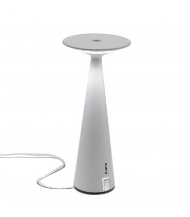 Lampada da Tavolo Dama Pro bianco + USB